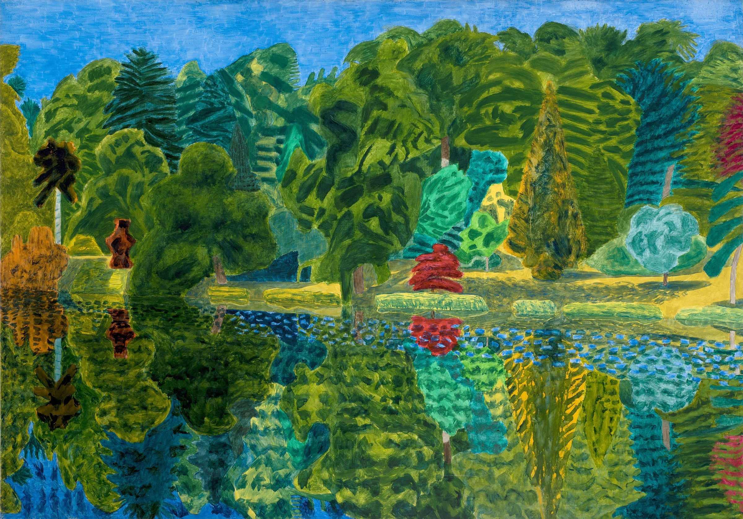 <span class=&#34;link fancybox-details-link&#34;><a href=&#34;/exhibitions/12/works/image285/&#34;>View Detail Page</a></span><p><strong>Adrian Berg RA (1929-2011)</strong></p><p>Stourhead, 29th June</p><p>1993, oil on canvas, 132 x 188cm</p>
